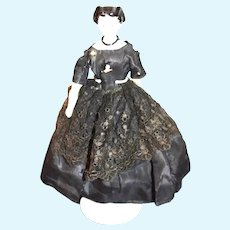 Antique Doll Petite Size Rare Hair Style China Head Conta & Boehme Fab Clothes