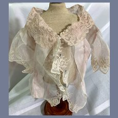 Wonderful Old Doll Top Fancy GORGEOUS Unusual Lace