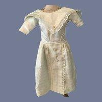 Vintage Doll Dress Hand Made Lace Trim Fancy Detail