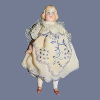 Antique Miniature All Bisque Doll Dollhouse Sweet Unusual