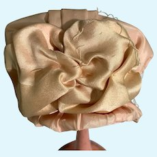 Artist Doll Bonnet Hat Wire Frame Fancy Bow Pink
