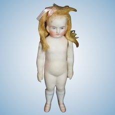 Antique Doll All Bisque Miniature Dollhouse Jointed Frozen Body Sweet