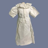 Old White Cotton Dress W/ Lace Collar