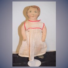 Old Cloth Doll Printed Cloth Dressed Sweet Size