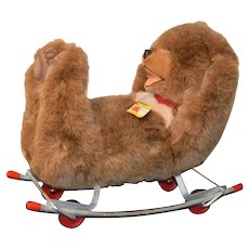 Wonderful Steiff Bear Glider Rocker Ride On Teddy Bear Adorable W/ Tags 8150/40