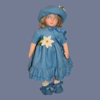 Sweet Vintage Lenci Cloth Doll Original Outfit Charming