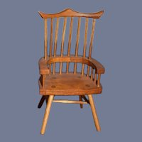 Artist Doll Miniature Windsor Back Wood Chair Dollhouse