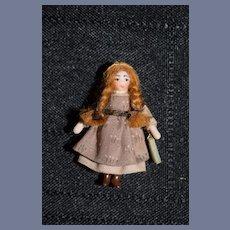 Artist Doll Miniature Ethel Hicks Angel Children W/ Tag Wonderful Dollhouse