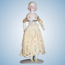 Antique Doll  Alice Bisque China Head Early Dollhouse Miniature