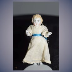 Antique Doll Miniature All Bisque Jointed Dollhouse Adorable
