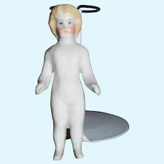 Antique Doll Frozen Charlotte Petite Size Dollhouse China Head
