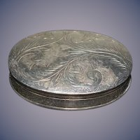 Antique Miniature Sterling Silver Ornate Hinged Box Makers Mark
