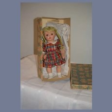 Old Doll Jumeau Celluloid French Doll in Jumeau Box Sweet
