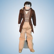 Antique Doll China Head Boy Fab Clothes