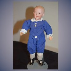 Antique Doll Heubach Bisque Boy Laughing