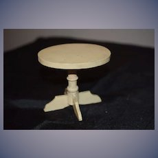 Old Doll Miniature Painted Table Oval Dollhouse Cottage