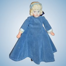 Old Doll Bisque Head W/ Molded Bows Sweet Miniature