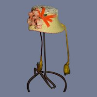 Wonderful Doll Hat Artist Made Doll Creations By Lillian Hope Straw Hat