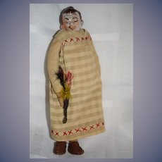 Old Doll China Head Character Smoker Doll