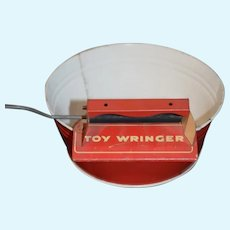 Vintage Doll Child's  Miniature Toy Wringer Washer Adorable Display Tin