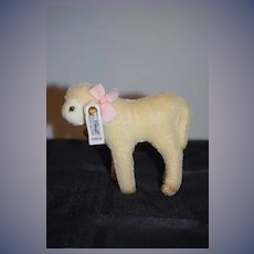 Steiff Mary Had a Little Lamb Limited Edition W/ Tag & Button Tag 0145/12