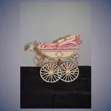 Sweet UFDC Marx Pram Doll Carriage Miniature Perfect Size