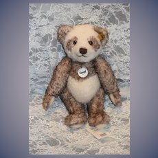 Vintage Steiff Teddy Bear Fuzzy Jointed 027024 Pelle Panda Teddy Bear
