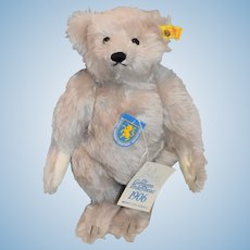 The Giengen Teddy Bear Steiff Button Tag Chest Tag Jointed 0167/32 Mint