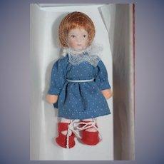 Kathe Kruse Doll Mint in Original Box Dollhouse Doll Linchen W/ Card Limited Edition