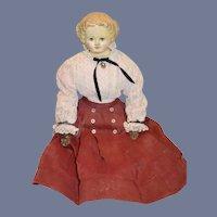 Antique Doll Papier Mache M&S Superior W/ Original Tag Antique Body w/ Tall lace up Boots
