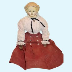 Antique Doll Papier Mache M&S Superior W/ Original Tag Antique Body w/ Tall lace up Boots