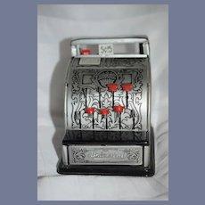 Vintage Line Mar Co. Miniature Tin Cash Register Works!