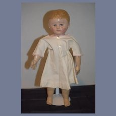 Old Martha Chase Doll Oil Cloth Sweet Size Dressed