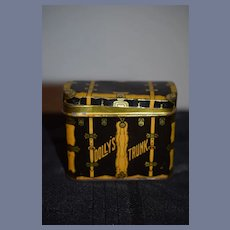 Old Tin Dolly's Trunk Miniature Adorable for Doll