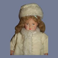 Old Celluloid Doll Jointed Wonderfully Dressed Character Petite Size