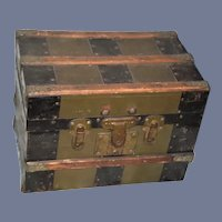 Antique Doll Trunk W/ Removable Tray