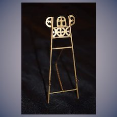 Wonderful Doll Miniature Ornate Easel For Dollhouse Metal