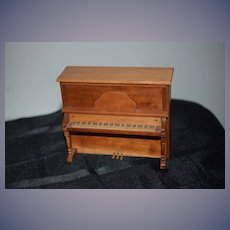 Vintage Doll Artist Wood Piano Upright Ornate Miniature Dollhouse