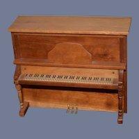 Vintage Doll Artist Wood Piano Upright Ornate Miniature Dollhouse