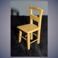 Vintage Doll Wood Tynietoy Chair Painted Miniature Dollhouse