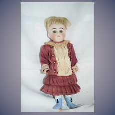 "Antique Doll All Bisque Kestner 130 7"" Tall Sweet Dressed Miniature"