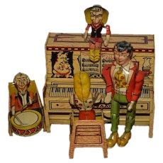 Old Li'l Abner and His Dogpatch Band Wind up Unique Art Manufacturing Co. Tin Toy Musical