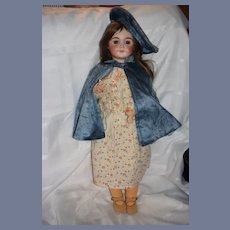 """Antique Doll French Cherie Limoges All Dressed 26 1/2"""" Tall"""