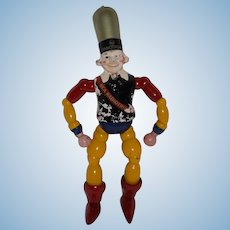 Old Wood and Composition Radiotron Man Wood Doll RCA MAXFIELD PARRISH Advertising