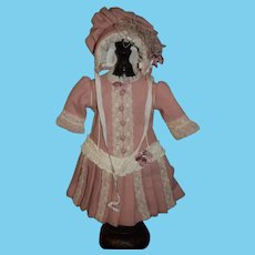 WONDERFUL Doll Artist Dress and Matching Bonnet June Ernst