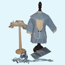 Wonderful Doll Dress Bonnet Cape Shoes French Market Artist Made