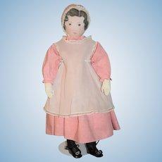 Vintage Polly Heckwelder Cloth Morovian Doll Rag Doll All Original