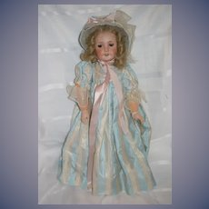 Antique Doll French Bisque Doll E.T. Unis Fab Doll Clothes Dress Bonnet