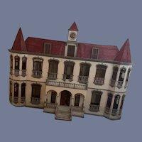 RARE Antique HUGE 8 foot long Dollhouse Quinta MIMI Hotel Inn FAB Ornate For Dolls Miniatures