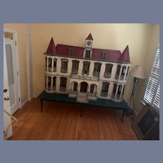 RARE Antique HUGE Dollhouse Quinta MIMI Hotel Inn FAB Ornate For Dolls Miniatures
